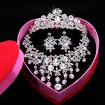 2017 New Fashion Bridal <b>Jewelry</b> Sets Gorgeous Crystal Necklace Earrings crown For Brides Party Prom Wedding <b>Accessories</b> HG-S004G