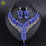 5Color Indian Rhinestone Bridal <b>Jewelry</b> Set Wedding Prom Party <b>Accessories</b> Gold Color Necklace Earring Set For Brides Women