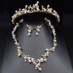 Handmade Luxurious Pearl Flower Wedding Bridal <b>Jewelry</b> Sets For Women Prom <b>Jewelry</b> <b>Accessories</b> Tiara Headbands Necklace Earrings