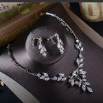 Jonnafe Shine Zirconia Bridal Necklace Earrings Wedding <b>Jewelry</b> Sets for brides Silver Women <b>Jewelry</b> <b>Accessories</b>