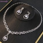 Jonnafe Fashion Zircon Women Party Prom <b>Jewelry</b> Set Wedding Necklace Earrings Bridal <b>Jewelry</b> <b>Accessories</b>