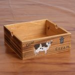 1PC Zakka Wooden Retro Desktop Cow Design Fleshy Sundries Box Vintage Wood <b>Jewelry</b> <b>Antique</b> Trinket Cosmetic Storage Box JL 104