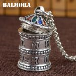 BALMORA 100% 990 Pure Silver Buddhistic Shurangama Mantra Pendants for Women Men <b>Accessories</b> <b>Jewelry</b> Without a Chain SY12227