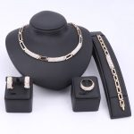 Women African Beads <b>Jewelry</b> Sets Cz Crystal Enamel Necklace Earring Ring Bracelet <b>Jewelry</b> Set Gold Color Statement <b>Accessories</b>