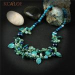 KCALOE Blue Onyx Chokers Necklaces For Women New Fashion Vintage <b>Accessories</b> Natural Stones Chunky Statement Necklace <b>Jewelry</b>