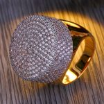 High Quality Copper <b>Antique</b> Gold Color Lucky High-End Micro Zirconia Gold For Man/Woman Wedding <b>Jewelry</b>