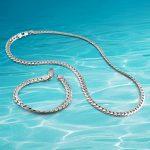 Men's fashion <b>Jewelry</b> Sets, 925 sterling silver Necklace/Bracelet, Decorative pattern lian width 7mm, personality <b>accessories</b>