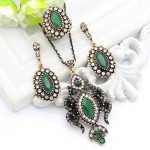 Vintage Turkish Women Flame Necklace Resin <b>Jewelry</b> Ethnic Pendant Necklace Crystal Drop <b>Antique</b> Moon Arabia Bride Dowry