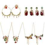 Dyxytwe Paris Enamel Necklaces earring Beautiful Leopard Tassel Flower Necklace For Women Party <b>Accessories</b>