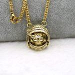 Death Astronaut Pendant <b>Antique</b> Gold Necklace Rock Party Men Novelty <b>Jewelry</b>