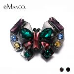 eManco Vintage 2 Items Crystal Animal Butterfly Brooch for Women Rhinestone&alloy 2018 Fashion <b>Jewelry</b> <b>Accessories</b>