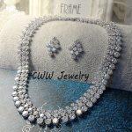 CWWZircons Luxury 2018 Nigerian Wedding <b>Accessories</b> African CZ Beads <b>Jewelry</b> Sets Crystal Bridal Necklace For Brides T111