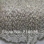 <b>Antique</b> Silver Cable Open Link Iron Metal Chain For Necklaces Bracelet Accessories DIY <b>Jewelry</b> Findings 100m 3*2 mm N1553