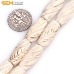 """Gem-inside 9x21mm (hole 2mm) Natural White <b>Antiqued</b> White Oval Tube Bone Beads For <b>Jewelry</b> Making 16"""" About 20 pcs DIY"""