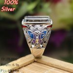 100%925 Sterling-Silver-<b>Jewelry</b> Ring Base Fit Squre 14*14mm Cloisonne Classic <b>Antique</b> Bronze Royal Blank Tray diy Handmade Rings