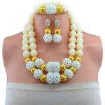 Fashion Clear AB White Women Stylish Crystal Beads <b>Jewelry</b> <b>Accessories</b> Nigerian wedding african beads <b>jewelry</b> set ABD011