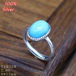 100% Sterling 925 Silver Ring <b>Jewelry</b> for Women Adjustable 8*12MM Ellipse Blank DIY Fittings Gem Base Tray <b>Antique</b> Silver
