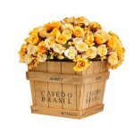 Plant Tray Case Polygon Classical Style Treasure Chests Vintage Retro Wooden Box LOVE <b>Jewelry</b> <b>Antique</b> Trinket Storage Box