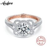 <b>Antique</b> <b>jewelry</b> Flower Desgin 925 Sterling Silver Simulated stones Wedding Engagement Rings For Love Size 6 7 8