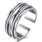 Hemiston Luxury <b>Antique</b> 100% 925 Sterling Silver Vintage Wider Hollowing Rings Resizable for Women <b>Jewelry</b> PTER002