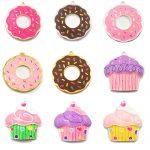 ( Choose Design First ) 10pcs/bag Silver Color Full Enamel Doughnut Cupcake Pendants For DIY Necklace <b>Jewelry</b> Making <b>Accessories</b>