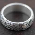 S990 fine silver silver ring wholesale <b>antique</b> style Eight Buddhist <b>jewelry</b> lovers Kyrgyzstan Xiangkuan Edition