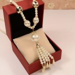 ABS pearl <b>jewelry</b> pendants necklaces 2016 K pop top quality fashion ladies tassel long pearl necklace women costume <b>accessories</b>