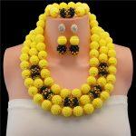 Yellow African <b>Jewelry</b> Sets Wedding <b>Jewelry</b> Sets Crystal Rhinestone Flowers Party <b>Accessory</b> <b>Jewelry</b> Set Free Shipping