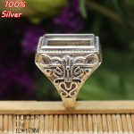 100% Sterling Silver 925 <b>Jewelry</b> Adjustable Ring Blank for man Blank Fit 12x17MM Setting Square Stone <b>Antique</b> Silver Classical