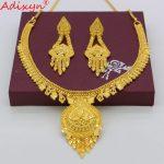 Adixyn Light Necklace&Earrings <b>Jewelry</b> Set for Women/Girls Gold Color Ethiopian/Arab/India Wedding/Party <b>Accessory</b> N04231