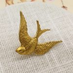 Beautiful Vintage <b>Antique</b> Brass Bird Sweetheart Brooch Pin Costume <b>Jewelry</b> Handmade <b>Antique</b> Gothic Brooches