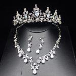 Luxurious Zirconia Sparkling Wedding Bridal <b>Jewelry</b> Sets Top Silver Tiara Bride Necklace Earring Wedding <b>Jewelry</b> <b>Accessories</b>