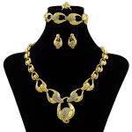 2018 Fashion Crystal Wedding <b>Jewelry</b> Sets Bride Party <b>Accessories</b> Bridal Decorations Gold Necklace Earring <b>Jewelry</b> For Women