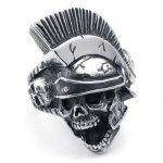 Punk Rock Hip Hop Titanium Steel Men Ring Mohican Hairstyle Skull <b>Antique</b> Silver Biker Band Indian <b>Jewelry</b> Wedding QMHJE DAR297
