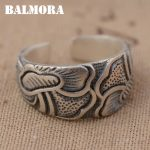 BALMORA Solid 990 Pure Silver Lotus Flower Rings for Women Men Lovers Gift Vintage Thai Silver Ring <b>Jewelry</b> <b>Accessories</b> SY20894