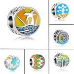 ZMZY New Fresh <b>Antique</b> Original 925 Sterling Silver Charm Bead Summer Enamel fit Pandora Charms Bracelet Women Gift <b>Jewelry</b>