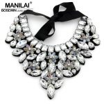 Female Evening Dress Perfect Match <b>Accessories</b> Statement <b>Jewelry</b> Fashion Shining Crystal Chokers Collar Necklaces CE2507