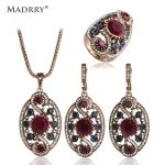 Classic Design Turkish <b>Jewelry</b> Sets Necklace & Earrings & Ring High Quality Simulated Resin Women Love Mother's Gift <b>Accessories</b>