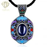 3 Color Styles Fashion <b>Jewelry</b> National Championship DIY <b>Jewelry</b> <b>Antique</b> Silver Plated Gem Statement Pendant Necklaces for Women