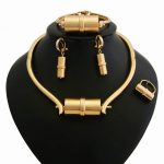 YULAILI High Quality African Beads Dubai Pure Gold Color <b>Jewelry</b> Set for Wedding Bridal Costume <b>Accessories</b>