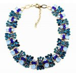 Olsen Twins Luxury Vintage Crystal Bowknot Choker Necklace <b>Antique</b> Gold Blue Rhinestone Collar Necklace Brand <b>Jewelry</b>