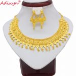 Adixyn India Necklace Earrings Set <b>Jewelry</b> Women Girls Gold Color Romantic Arab/Ethiopian/African Wedding <b>Accessories</b> N06227