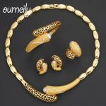OUMEILY Fashion African Beads <b>Jewelry</b> Set Women <b>Accessories</b> <b>Jewelry</b> Sets Ethiopian Gold Color Choker Necklace Sets Jewellery