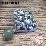BALMORA Authentic 925 Sterling Silver Hollow Flower Pendants for Women <b>Accessories</b> Mother's Gift Vintage Silver <b>Jewelry</b> SY13975