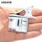 9595W 60X Mini Microscope Phone Camera Portable Clip with LED <b>Jewelry</b> <b>Antiques</b> Identification Magnifier Magnifying Glass Loupe