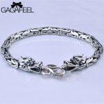 GAGAFEEL Genuine 100% Real Pure 925 Sterling Silver Men Bracelet Dragon Head Men <b>Jewelry</b> Jine <b>Accessories</b> For Male Boyfriend