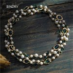 SINZRY luxury <b>jewelry</b> <b>accessory</b> gold color glass crystal vintage long necklaces imitation pearl party costume <b>jewelry</b> for women