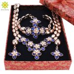 <b>Jewelry</b> Sets For Women Necklace Earrings Bracelet Ring Gold Color Africa Dubai Party Wedding Bridal <b>Accessories</b>+Gift Boxes
