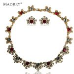 Madrry Alloy Metal Romantic Flowers <b>Jewelry</b> Sets Necklace & Earrings For Women Bridal Wedding <b>Accessories</b> Bijuterias Rhinestone