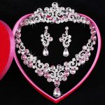 2017 New Fashion Bridal <b>Jewelry</b> Sets Gorgeous Crystal Necklace Earrings crown For Brides Party Prom Wedding <b>Accessories</b> HG-S011G